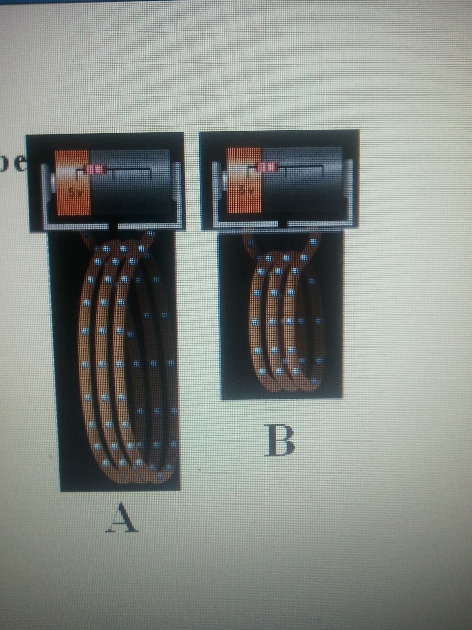 which would be a more strong magnet A.A B.B C. The