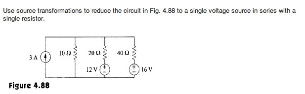Use source transformations to reduce the circuit i