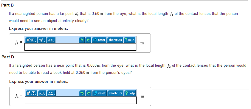if a nearsighted person has a far point df that is | chegg, Cephalic Vein