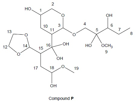 a)What carbon atoms in compound P are hemiketal ce