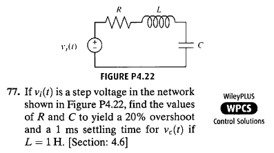 If vi(t) is a step voltage in the network shown i