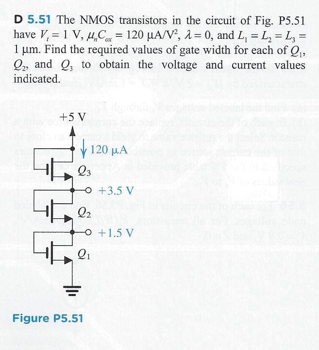 The NMOS transistors in the circuit of Fig. P5. 51