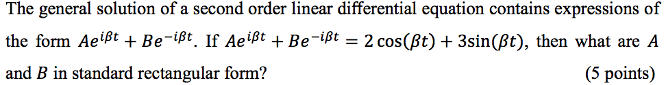 The general solution of a second order linear diff