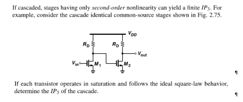 If cascaded, stages having only second-order nonli
