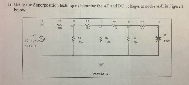 Using the Superposition technique determine the AC