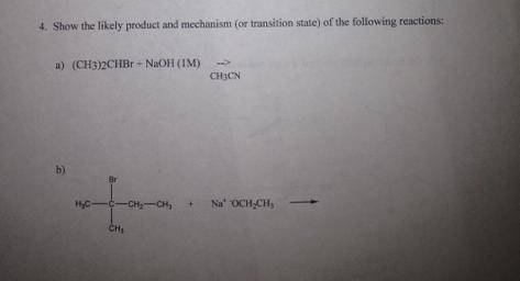 Show the likely product and mechanism (or transiti