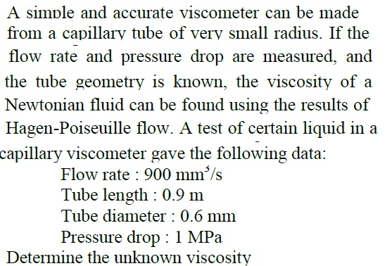 A simple and accurate viscometer can be made from