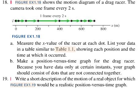 Shows The Motion Diagram Of A Drag Racer. The Came...   Chegg.com