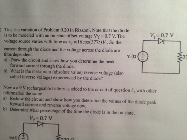 This is a variation of Problem 9.20 in Rizzoni. No