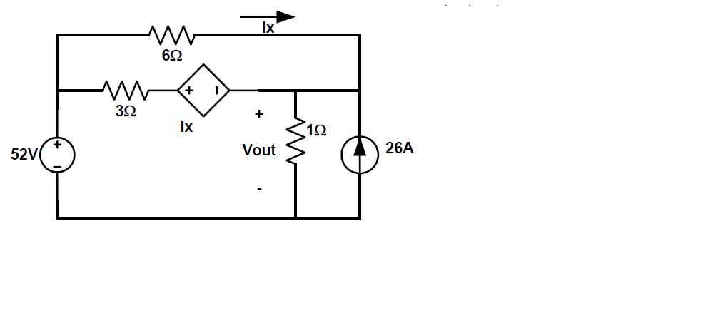 Find the thevenin equivalent circuit. Treat 1 ohm