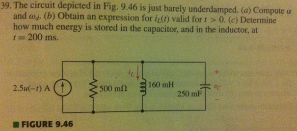 The circuit depicted in Fig. 9.46 is just barely u