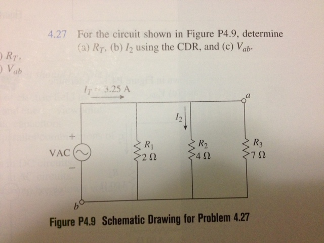 For the circuit in Figure P4.9, determine (a) RT,