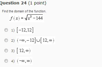 Find The Domain Of The Function. F(x) = Root X2 - ... | Chegg.com