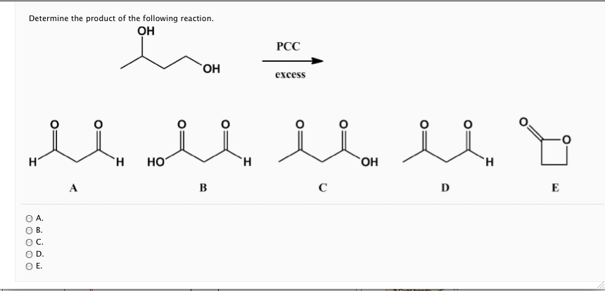 Determine the product of the following reaction.