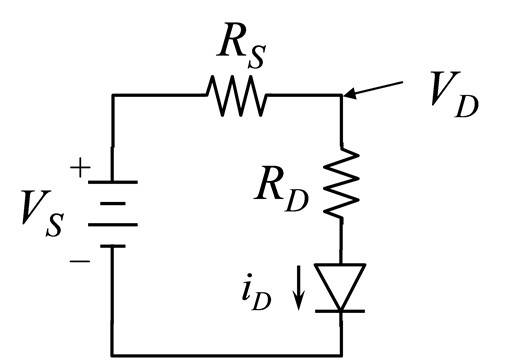 Given the following circuit of an external resisto