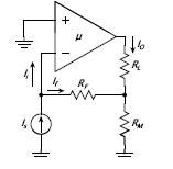 The feedback current amplier in Fig. 2, uses an op