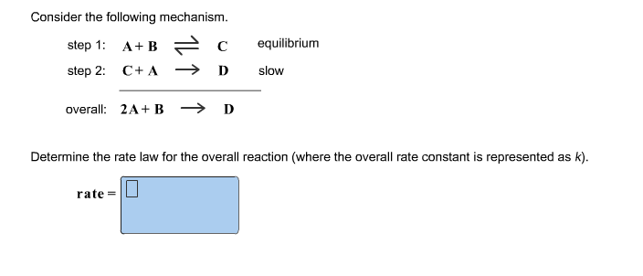 Consider the following mechanism. Determine the r