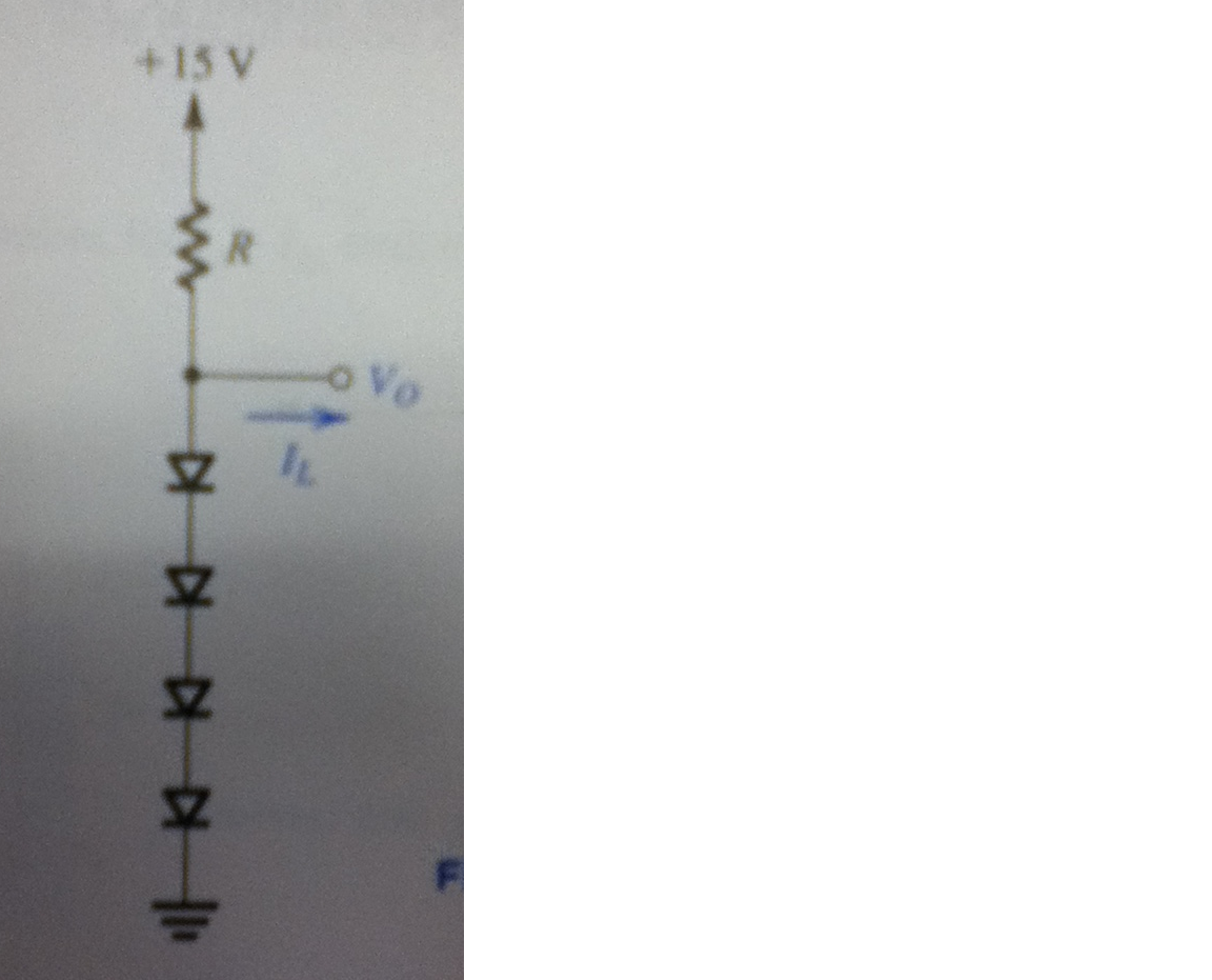 Design the circuit in Fig. E4.15 so that Vo=3V whe