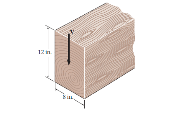 The beam has a rectangular cross section and is ma