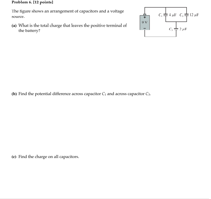 The figure shows an arrangement ot capacitors and