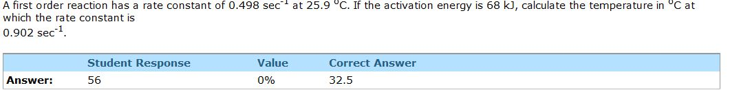 A first order reaction has a rate constant of 0.49