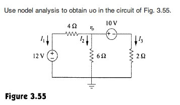 Use the nodal analysis to obtain uo in the circuit