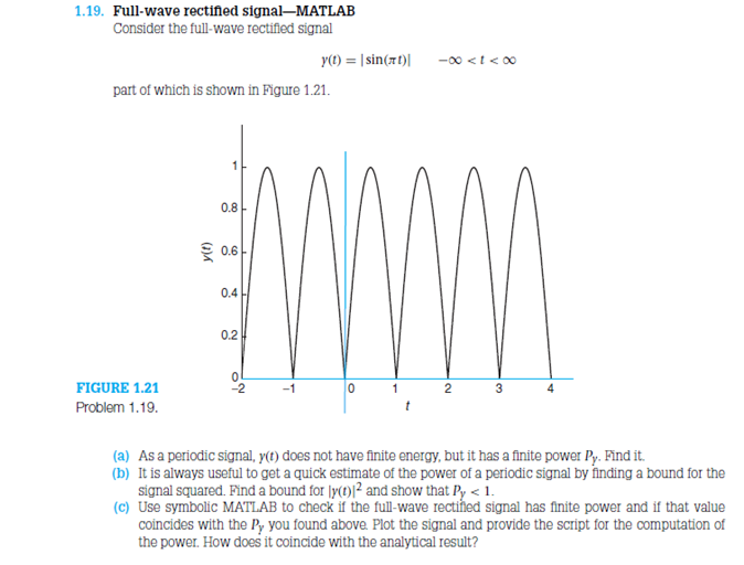 Consider the full-wave rectified signal y(f) = |s
