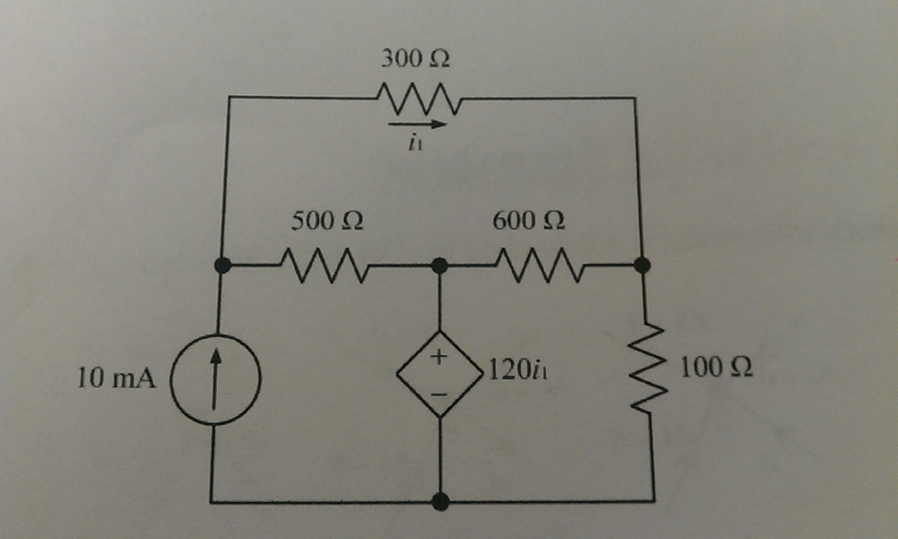 Find the current I,1 in the circuit below: