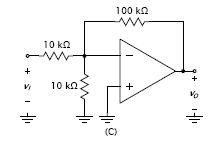 Assuming ideal op amp, find the voltage gain vo/vI