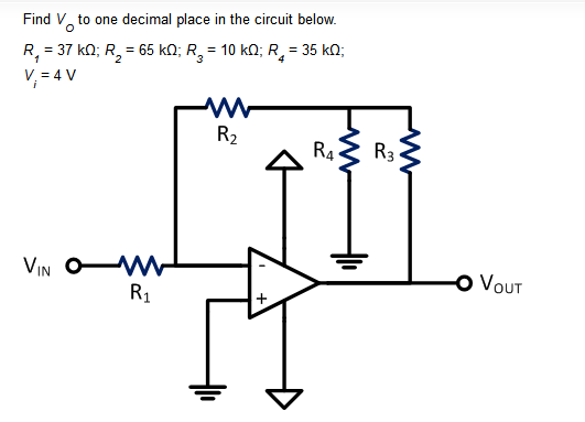 Find Vo to one decimal place in the circuit below.