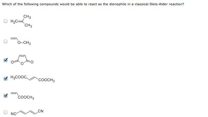Which of the following compounds would be able to