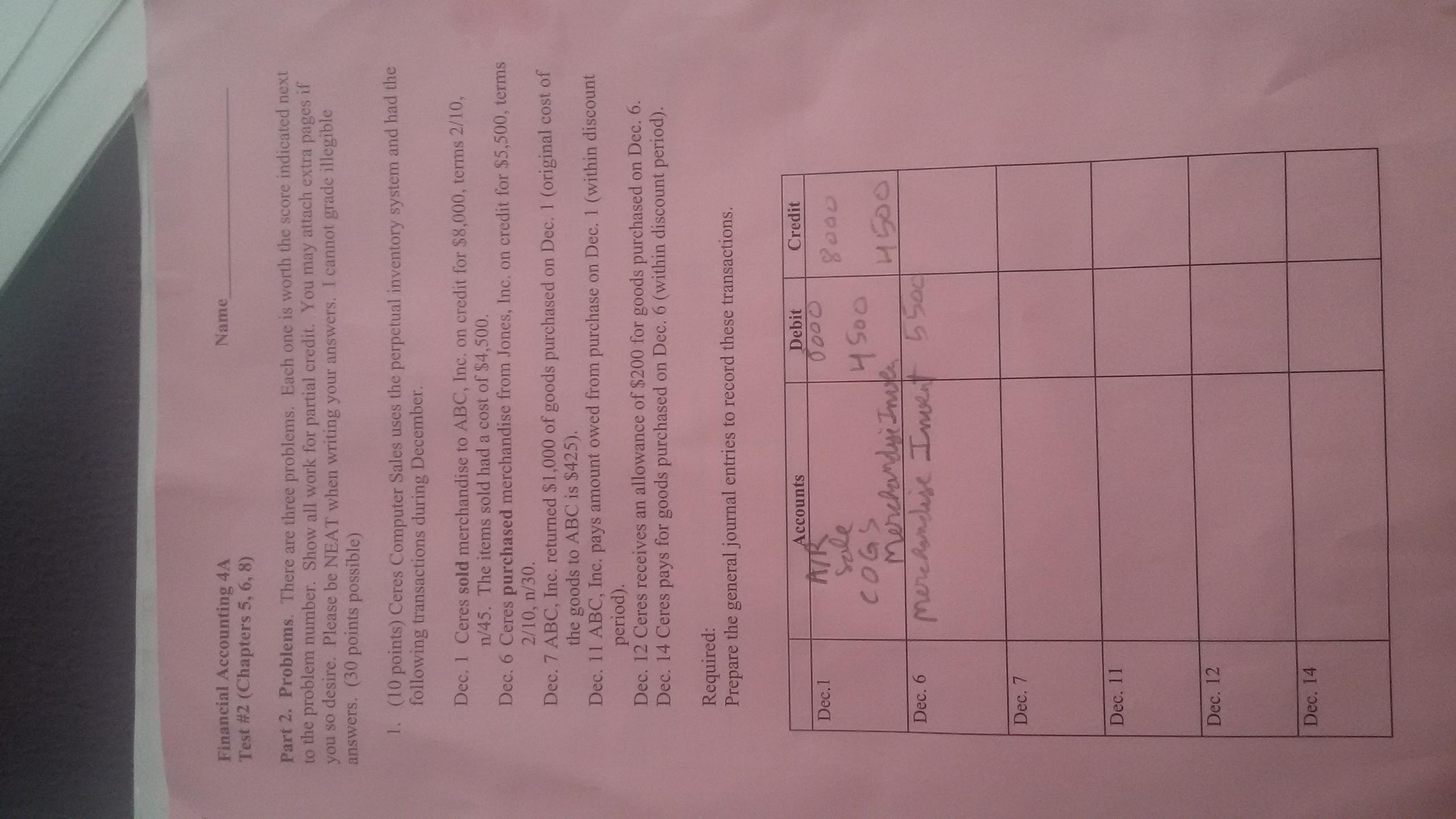 Accounting homework help yahoo answers