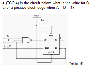 (TCO 4) In the circuit below, what is the value fo