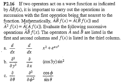 If two operators act on a wave function as indicat