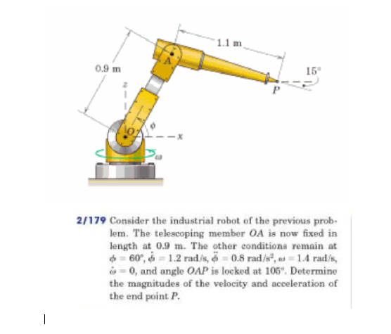 Consider the industrial robot of the previous prob