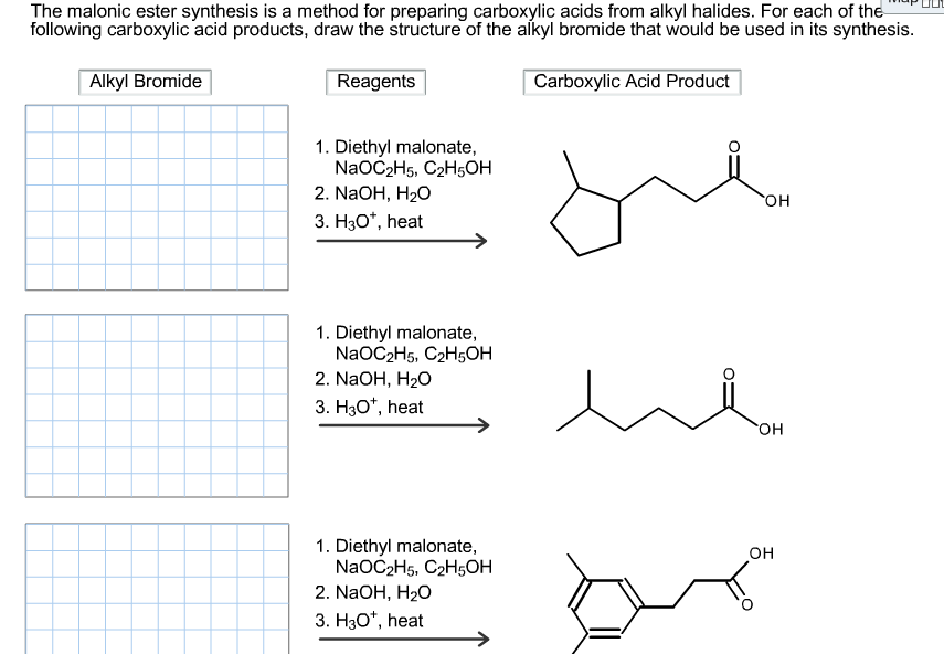 The malonic ester synthesis is a method for prepar