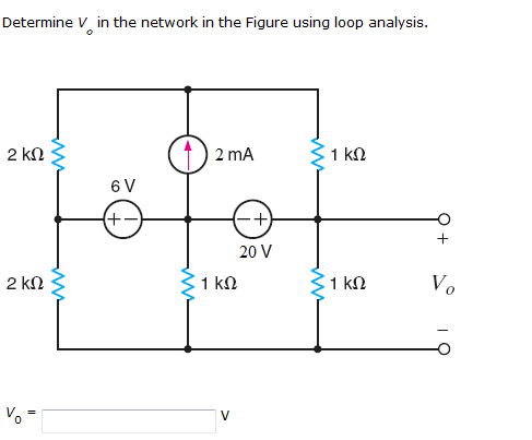 Determine Vo in the network in the Figure using lo