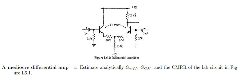 Figure L.6.1: Differential Amplifier A mediocre