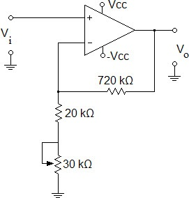 Determine the setting of the potentiometer in the