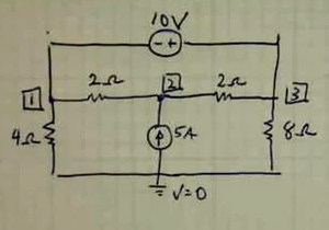 Find the Volt across the 8 Resister