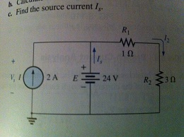 Find the source current Is.