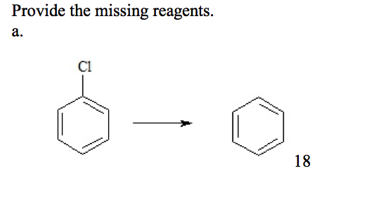 Provide the missing reagents.