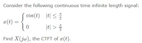 Consider the following continuous time infinite le