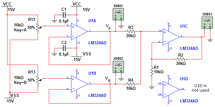 4. Calculate the output voltage VOUT using the fol