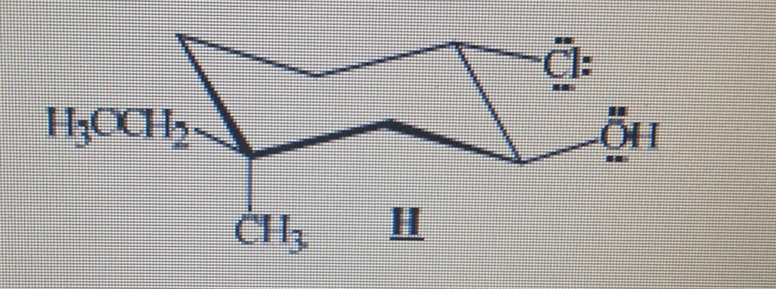 A. Consider the compound H whose structure is show
