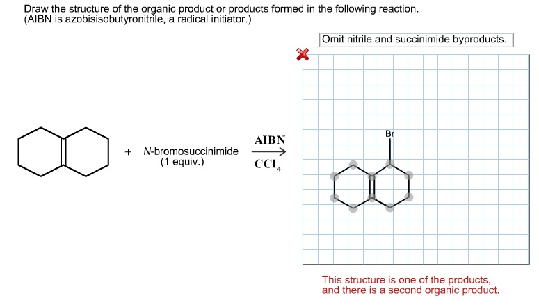 Draw the structure of the organic product or produ
