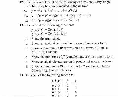 How do you do number 13 for function G? Please hee