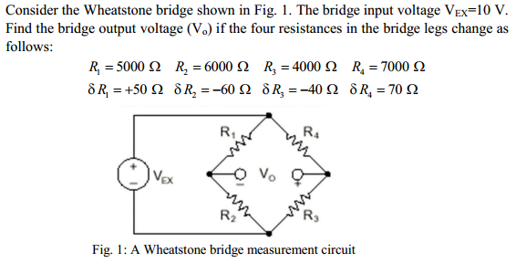 solved  consider the wheatstone bridge shown in fig  1  th