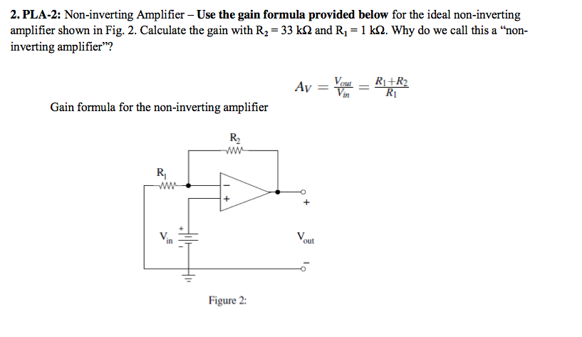 Non-inverting Amplifier - Use the gain formula pro