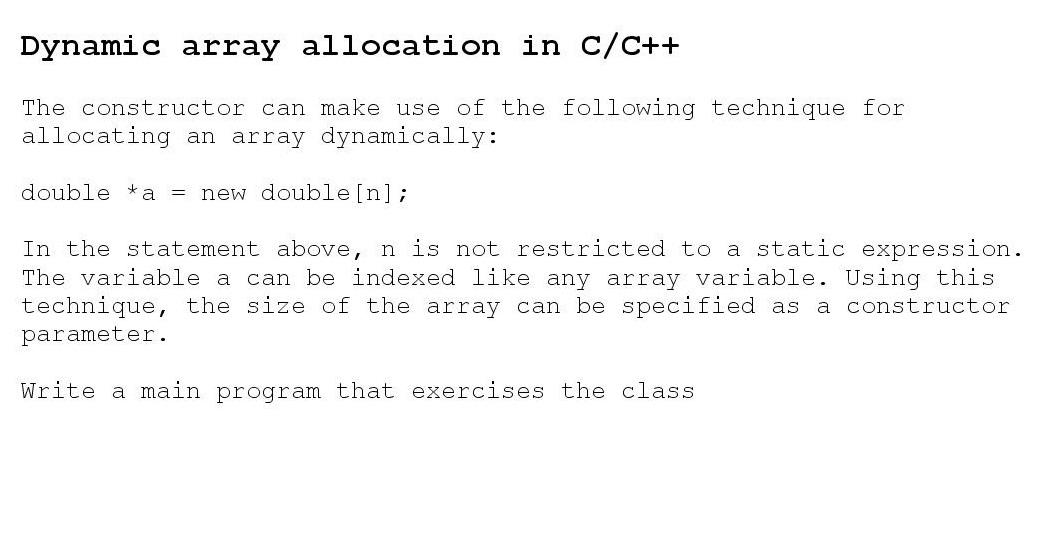 how to create dynamic array